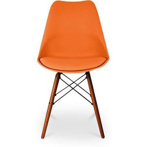 Chaise salle a manger orange achat vente chaise salle for Galette chaise dsw
