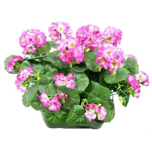 Fleurs artificielles en jardiniere achat vente fleurs for Geranium artificiel jardiniere