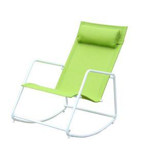Fauteuil a bascule exterieur achat vente fauteuil a for Rocking chair exterieur