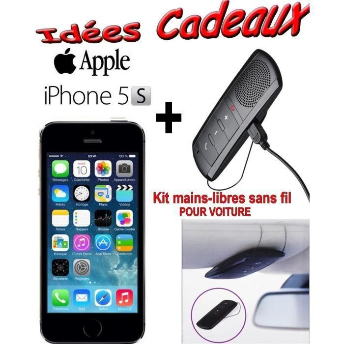 apple iphone 5s noir 16 go kit voiture sans fil achat. Black Bedroom Furniture Sets. Home Design Ideas