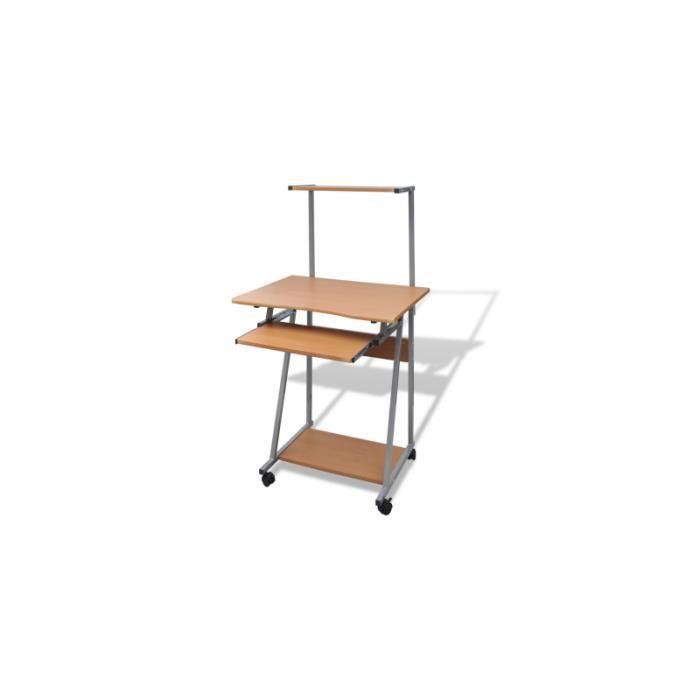 table de bureau brun pour achat vente bureau table de bureau brun pour cdiscount. Black Bedroom Furniture Sets. Home Design Ideas