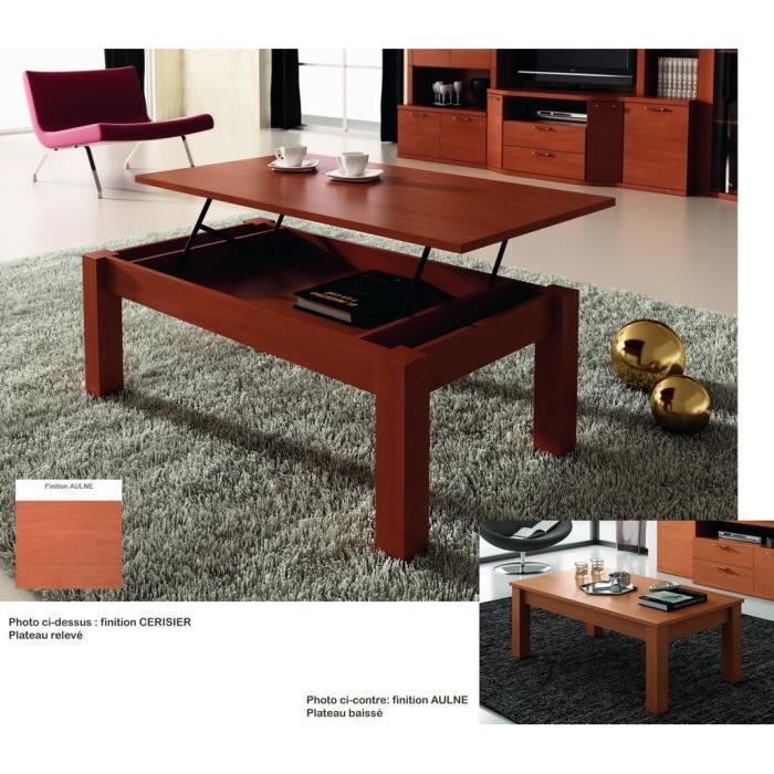 table basse relevable 110x60