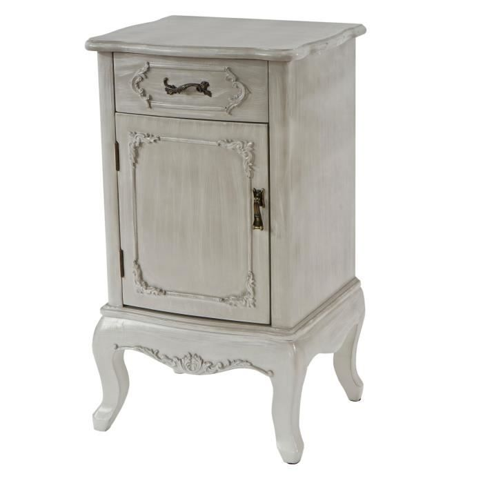 commode prato armoire table d 39 appoint style antique baroque 71x42x35cm blanc shabby chic. Black Bedroom Furniture Sets. Home Design Ideas