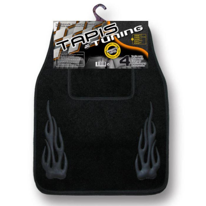 jeu de 4 tapis tuning noir autoselect achat vente tapis de sol jeu de 4 tapis tuning noir. Black Bedroom Furniture Sets. Home Design Ideas