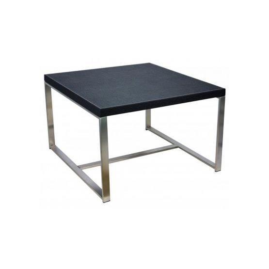 Table basse carr e ruddy noir achat vente table basse - Table basse carree noire ...
