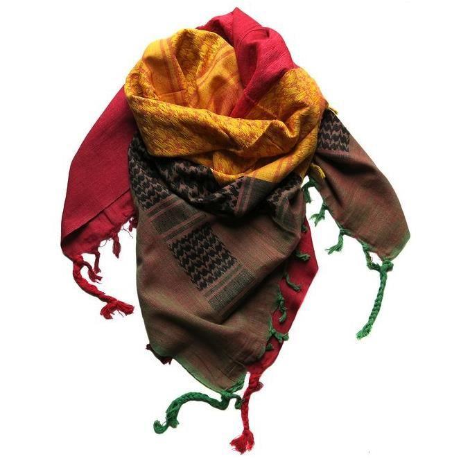 foulard rasta palestinien keffieh ch che 110x90cm noir achat vente echarpe foulard. Black Bedroom Furniture Sets. Home Design Ideas