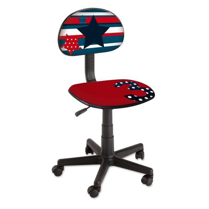 Swed chaise de bureau petit mod le achat vente chaise de bureau rouge str - Chaise bureau cdiscount ...