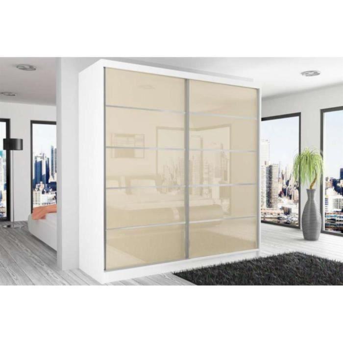 justhome beauty 11 armoire 218 200 60 couleur blanc mat perle laqu haute brillance achat. Black Bedroom Furniture Sets. Home Design Ideas