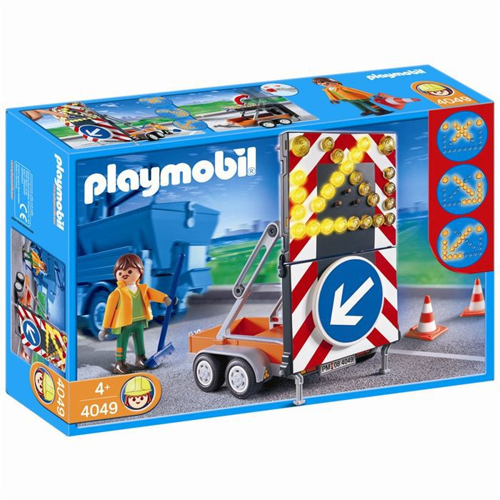 Playmobil agent routier et signalisation lumineuse achat - Playmobil travaux ...