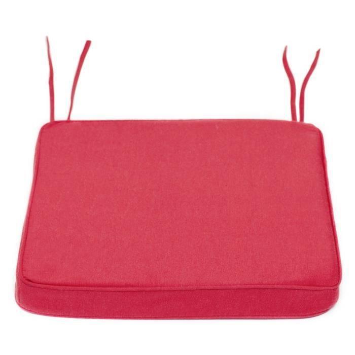 Coussin gallete de chaise uni coton finition passepoile - Coussin de chaise dehoussable ...