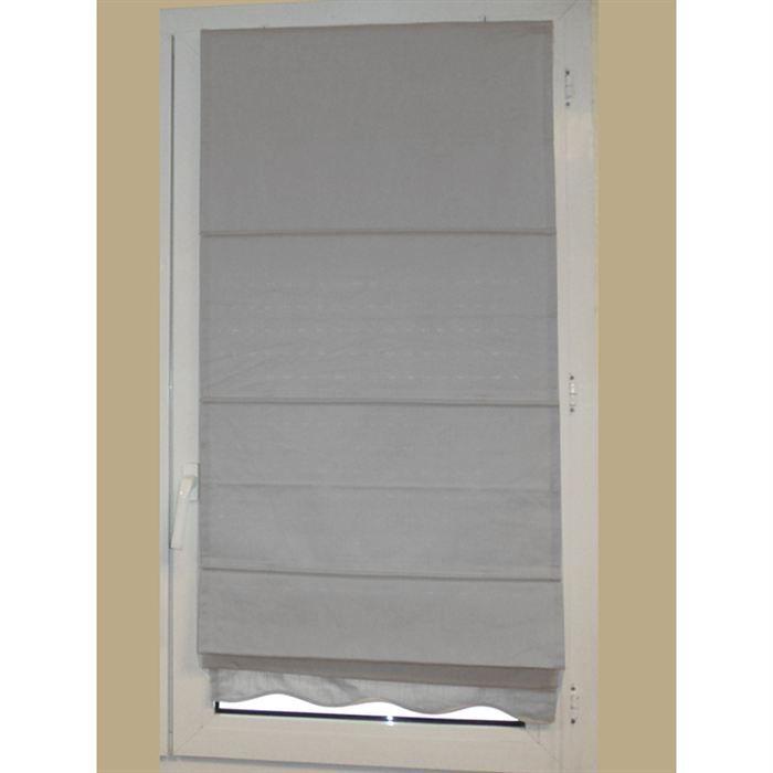 store tissus vague gris 90x200 cm achat vente store de fen tre tissu les soldes sur. Black Bedroom Furniture Sets. Home Design Ideas