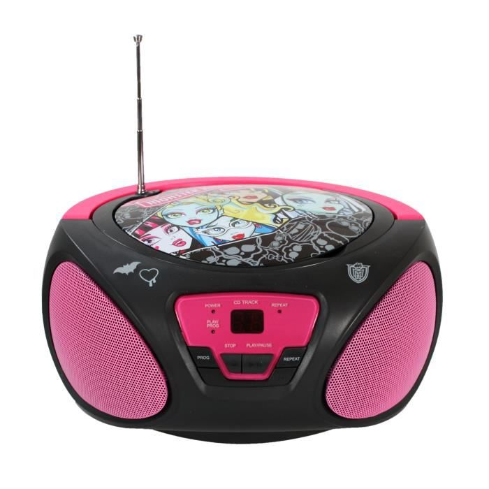 monster high lecteur cd boombox achat vente radio cd enfant soldes d t cdiscount. Black Bedroom Furniture Sets. Home Design Ideas