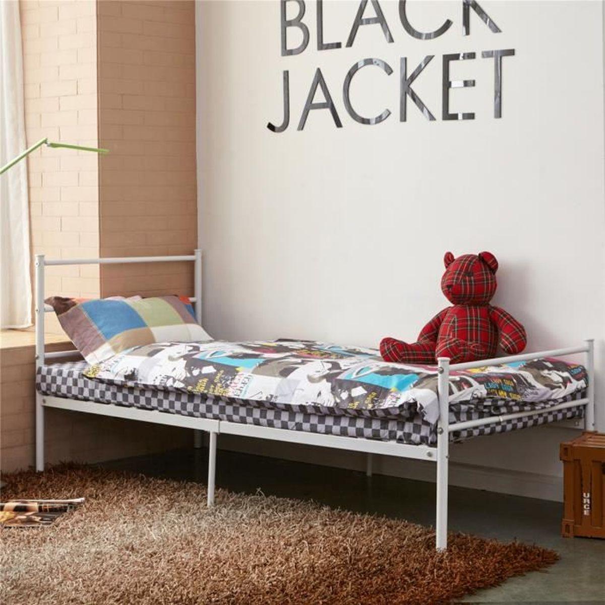 simple 3ft m tal cadre de lit en forte structure de lit chambre coucher pour adultes blanc. Black Bedroom Furniture Sets. Home Design Ideas