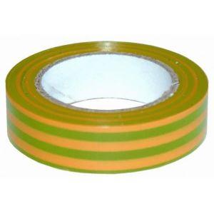 VOLTMAN Ruban adhésif isolant - 10m - Vert & Jaune
