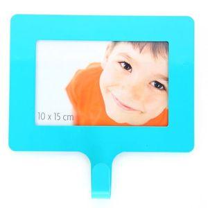 Cadre photo Happy home - L. 15 cm - Bleu