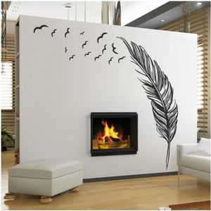 stickers muraux plumes achat vente stickers muraux plumes pas cher cdiscount. Black Bedroom Furniture Sets. Home Design Ideas