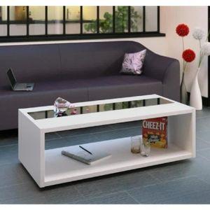 TABLE BASSE DANY Table basse style contemporain blanc et noir