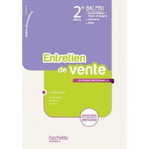Entretien de vente 2e bac pro mrcu achat vente livre - Bac pro decorateur interieur ...