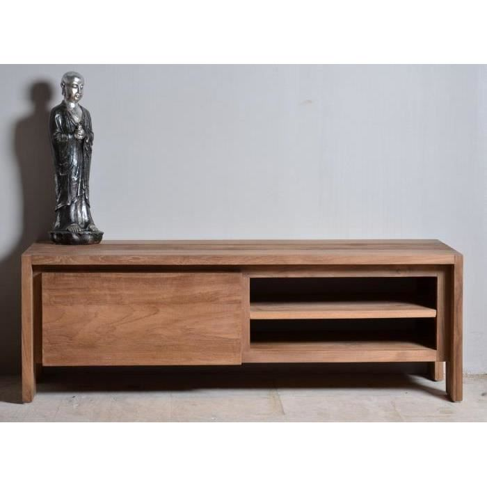 meuble tv teck dbodhi 120 achat vente meuble tv meuble tv teck dbodhi 120 les soldes sur. Black Bedroom Furniture Sets. Home Design Ideas