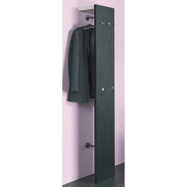 garde robe murale fingler ch ne noir blanc achat vente meuble d 39 entr e garde robe murale. Black Bedroom Furniture Sets. Home Design Ideas