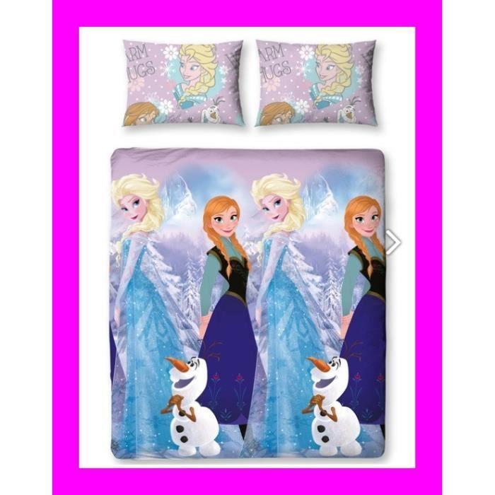 reine des neiges 2 personnes double disney elsa achat vente parure de drap cdiscount. Black Bedroom Furniture Sets. Home Design Ideas