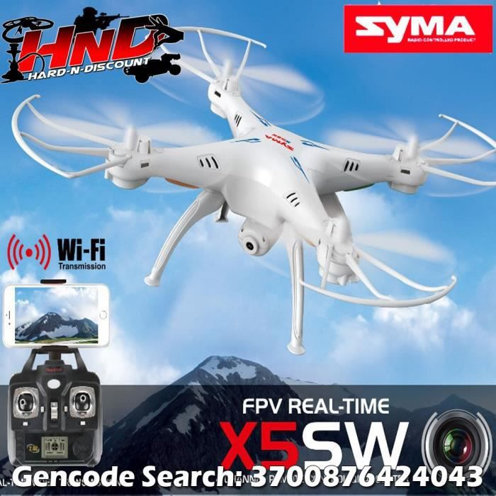 x5sw syma wifi avec cam ra hd et retour fpv dron achat. Black Bedroom Furniture Sets. Home Design Ideas