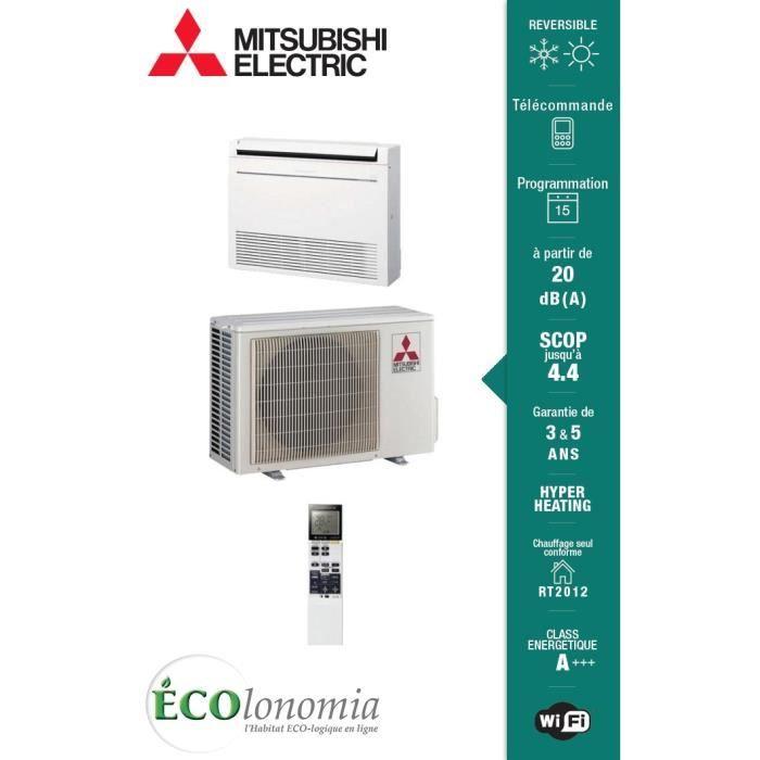 climatisation r versible console mitsubishi electric hyper heating mfz kj inverter mfz kj35ve. Black Bedroom Furniture Sets. Home Design Ideas