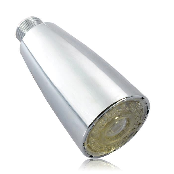Tete de robinet led avec capteur de temperature fixation 20mm achat vente douchette - Changer tete de robinet de jardin ...