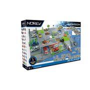 UNIVERS MINIATURE Circuit modulable 3D City - 4 Plaques + 1 voiture