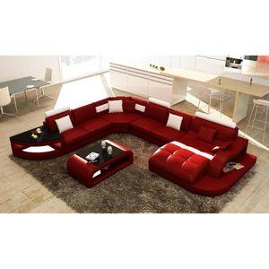 Canape rouge blanc achat vente canape rouge blanc pas cher cdiscount - Capitonner un fauteuil ...