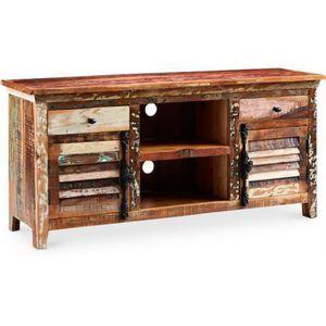Meuble tv bois recycl achat vente meuble tv bois for Meuble en bois recycle