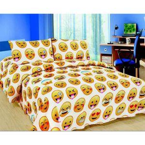 linge de lit emoji achat vente linge de lit emoji pas. Black Bedroom Furniture Sets. Home Design Ideas