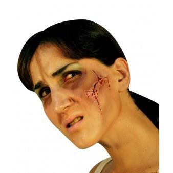 Fausse cicatrice visage adulte halloween achat vente maquillage cdiscount - Maquillage halloween cicatrice ...