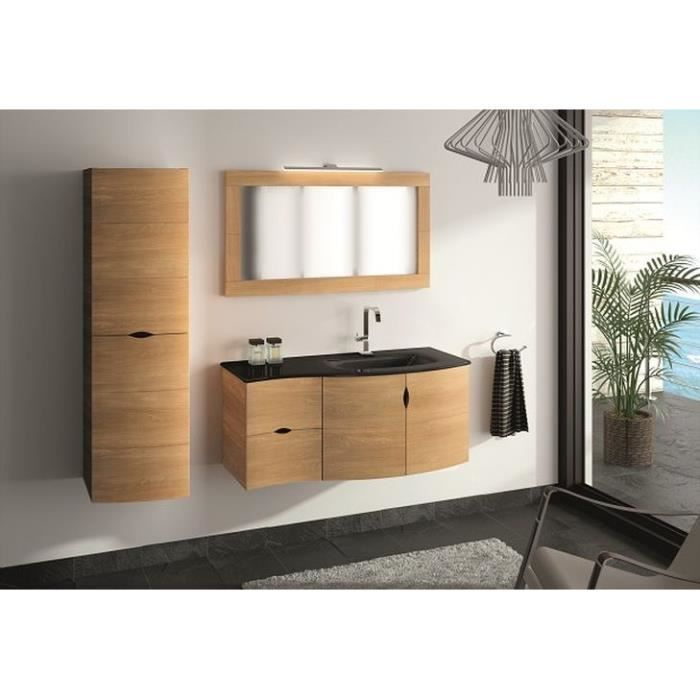 Vague du sud meuble en 110 cm version gauche plan vasque for Meuble rangement 110 cm