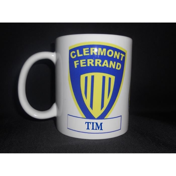 mug ceramique rugby personnalise clermont achat vente bol mug mazagran cdiscount. Black Bedroom Furniture Sets. Home Design Ideas
