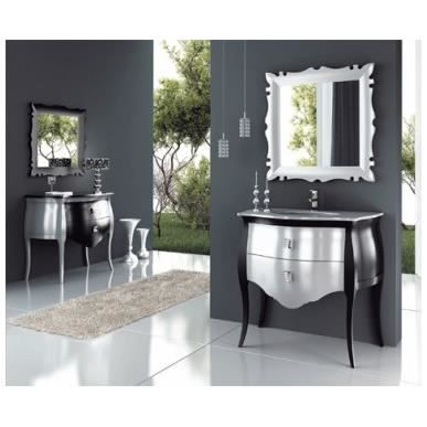 Meuble salle de bains coloris noir argent brill achat for Salle de bain belle epoque