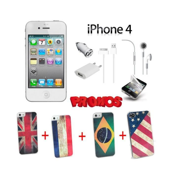 telephonie telephone mobile iphone  go blanc pack coques drapeaux color f auc