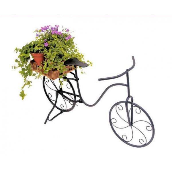 V lo de style en m tal laqu noir achat vente - Decoration jardin velo ...
