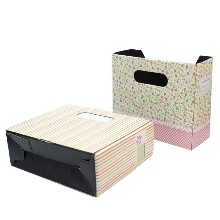 2 bo te rangement trousse stockage carton cosm tique maquillage toilette bureau achat vente. Black Bedroom Furniture Sets. Home Design Ideas