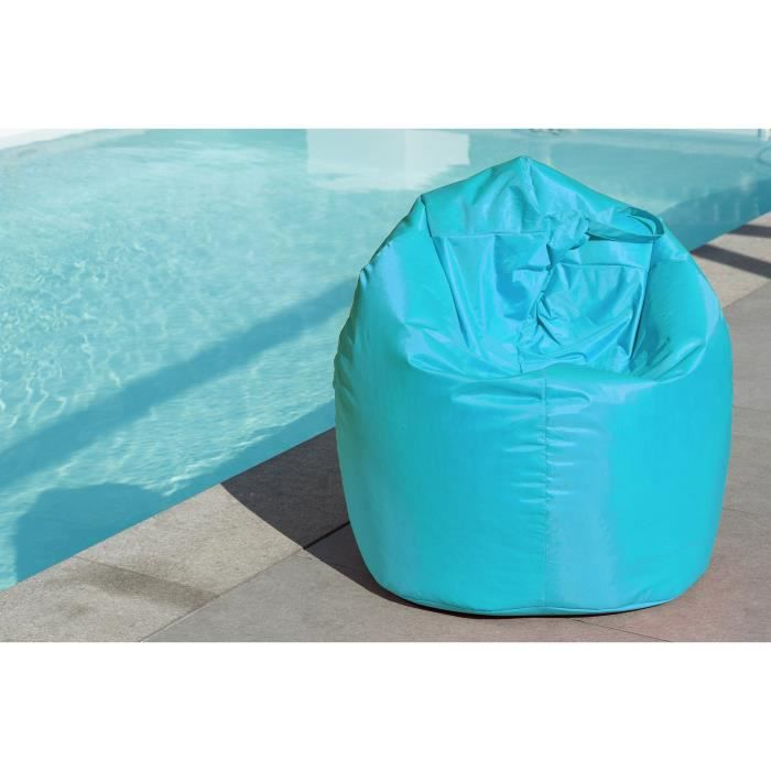 pyrus poire pouf in outdoor turquoise 79x100 cm achat. Black Bedroom Furniture Sets. Home Design Ideas