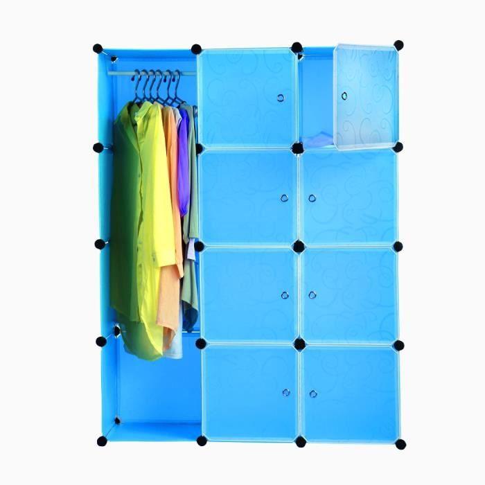 armoire penderie cube 12 placard etag re de bricolage organisateur rangement jouet livre. Black Bedroom Furniture Sets. Home Design Ideas