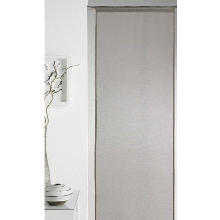 panneau japonais uni taupe 50 x 260 cm achat vente panneau japonais plastique 100. Black Bedroom Furniture Sets. Home Design Ideas