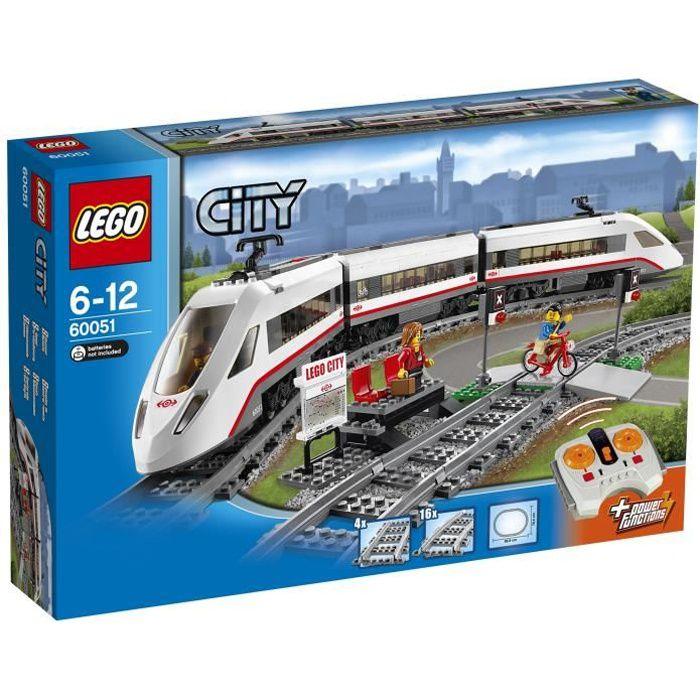 Lego city 60051 train de passagers grande vitesse tgv - Solde du blanc ...