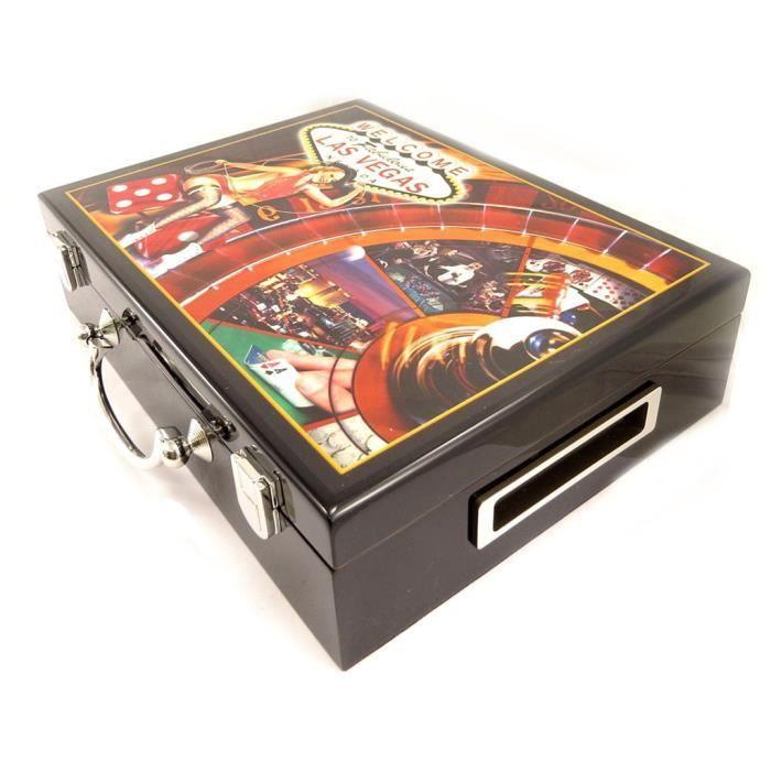malette bois poker noir 300 jetons achat vente malette poker cdiscount. Black Bedroom Furniture Sets. Home Design Ideas