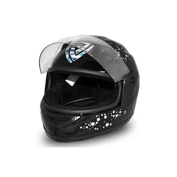 full face helmet casque integrale moto pour enfant noir m achat vente casque moto scooter. Black Bedroom Furniture Sets. Home Design Ideas
