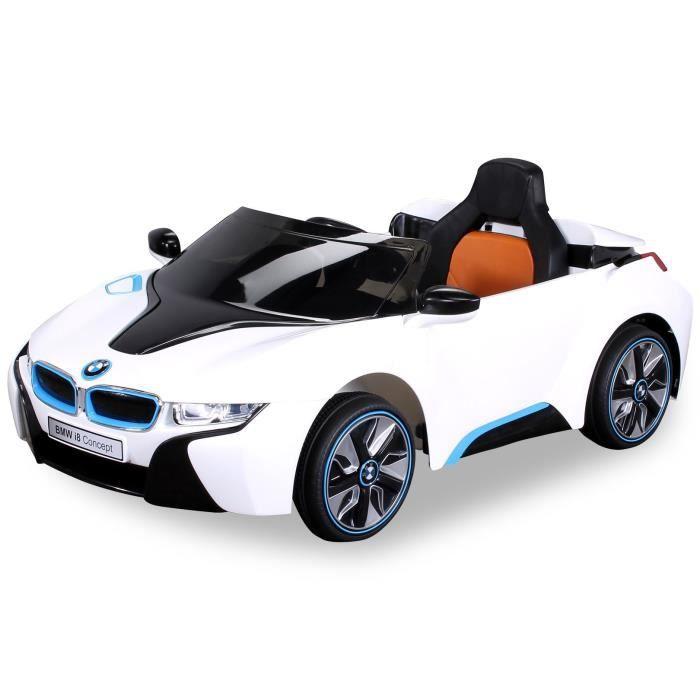 mini voiture lectrique pour enfants bmw i8 2x45 watt blanc achat vente voiture enfant. Black Bedroom Furniture Sets. Home Design Ideas