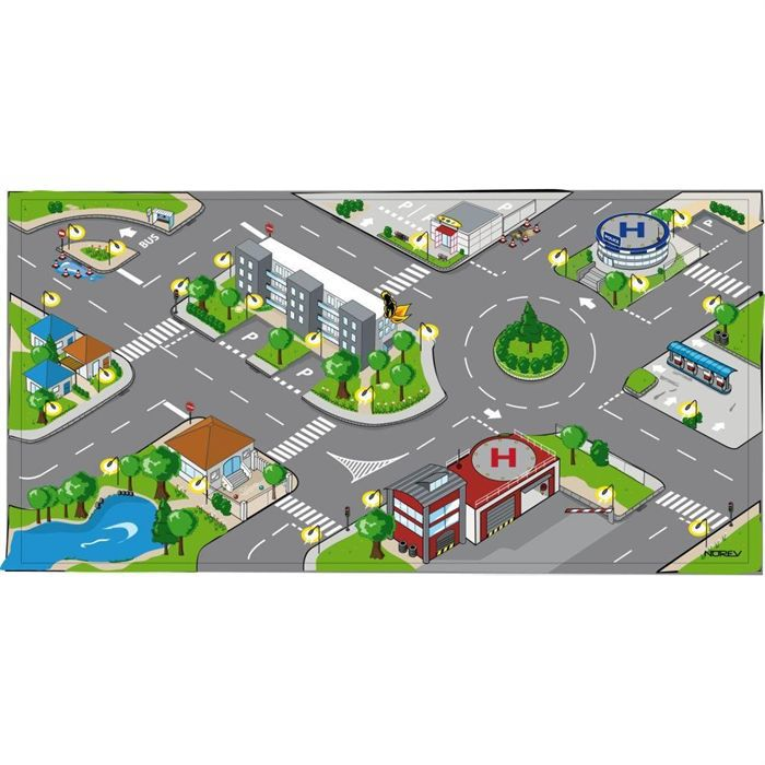 norev tapis city 1 vehicule achat vente tapis de jeu cdiscount. Black Bedroom Furniture Sets. Home Design Ideas