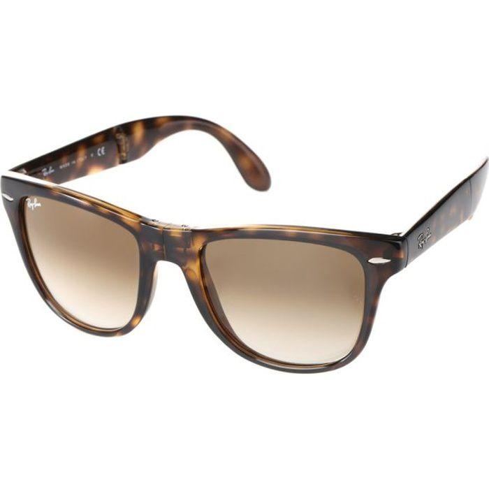 ray ban lunettes de soleil folding wayfarer rb4105 marron. Black Bedroom Furniture Sets. Home Design Ideas