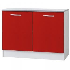 Paris prix meuble bas 2 portes 120cm smarty rouge - Meuble de cuisine plan de travail ...