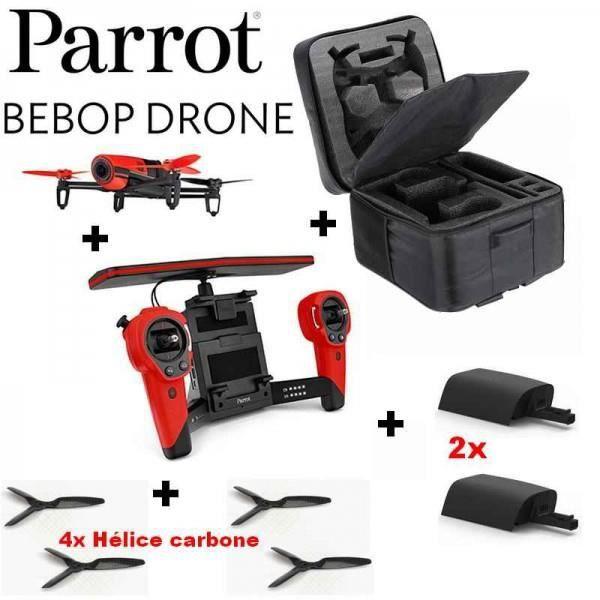 m ga pack drone parrot bebop rouge gps 14mp. Black Bedroom Furniture Sets. Home Design Ideas